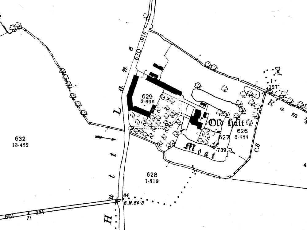 Ordnance Survey map showing Old Hutte near Hale, Liverpool