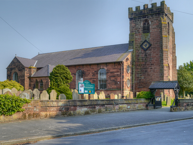 Photograph of St. Mary's Church, Hale