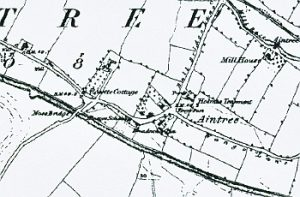 Aintree on the Ordnance Survey map of c.1850