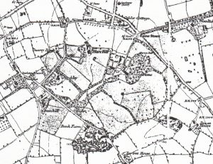 Allerton on the Ordnance Survey map of 1843