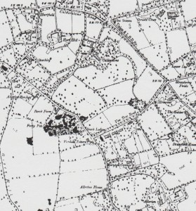Allerton on the Ordnance Survey map of 1891