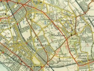 Allerton on the Ordnance Survey map of 1952