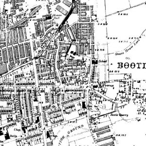 Bootle on the Ordnance Survey map of 1894