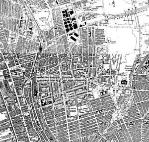 Bootle on the Ordnance Survey map of 1938