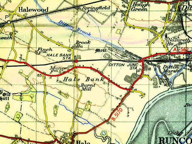 Map showing location of Brook House Farm