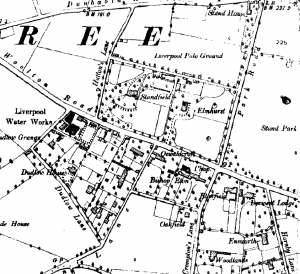 Ordnance Survey map of Childwall, 1894