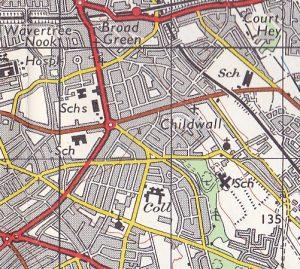 Ordnance Survey map of Childwall, 1964-72