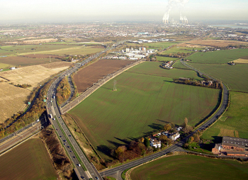 Aerial photograph of the Ditton Brook area