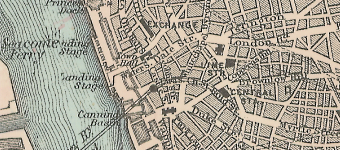 Bacon's Map of Liverpool (1885)