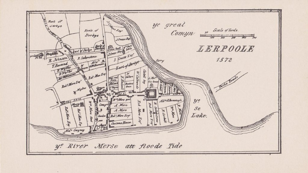 Another of Ashton's old maps - a sketch map of Liverpool as it was in 1572