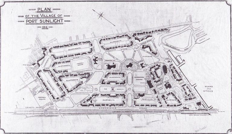 Plan of Port Sunlight from 1914