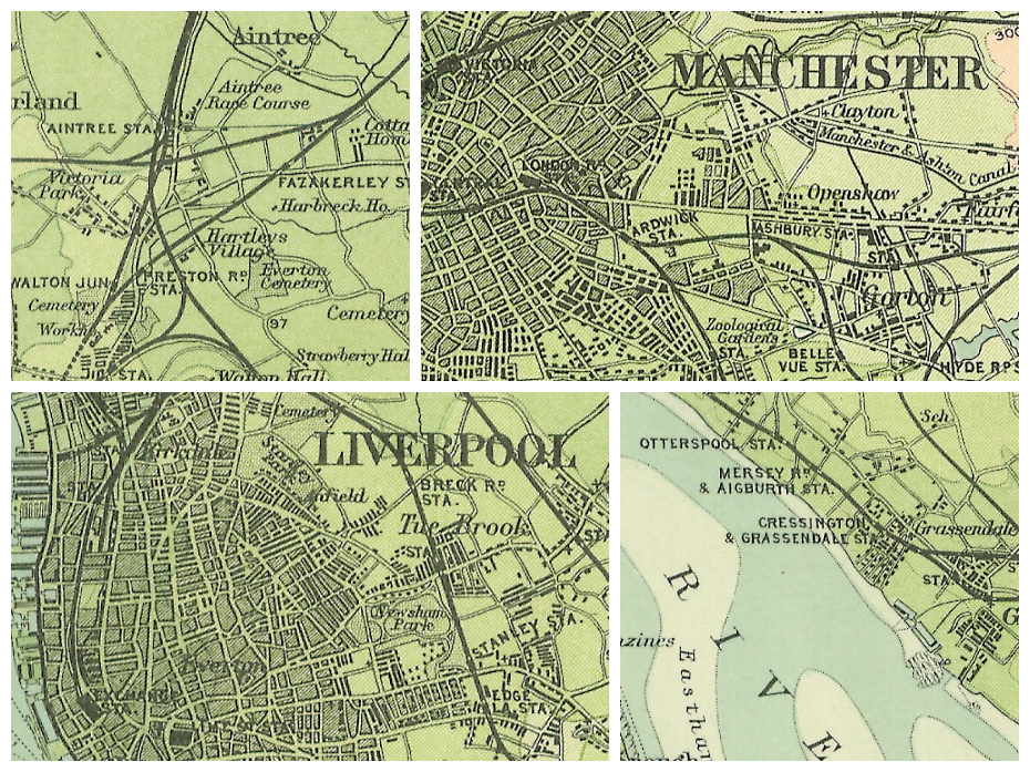 Environs of Liverpool (1898) collage