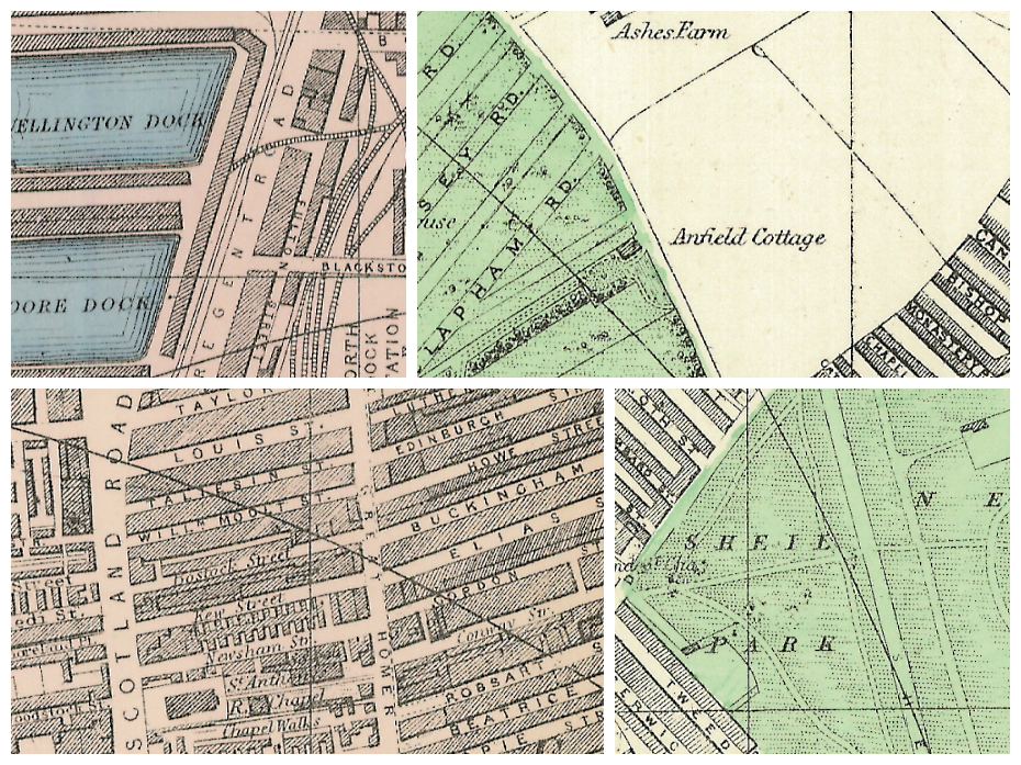 Plan of Liverpool (North sheet) (1890) collage