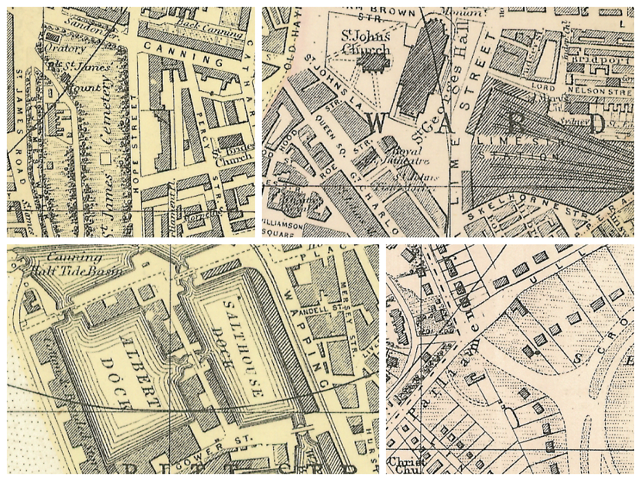 Plan of Liverpool (South sheet) (1890) collage