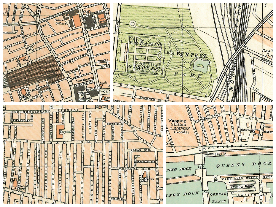 Royal Atlas of Liverpool (1898) collage