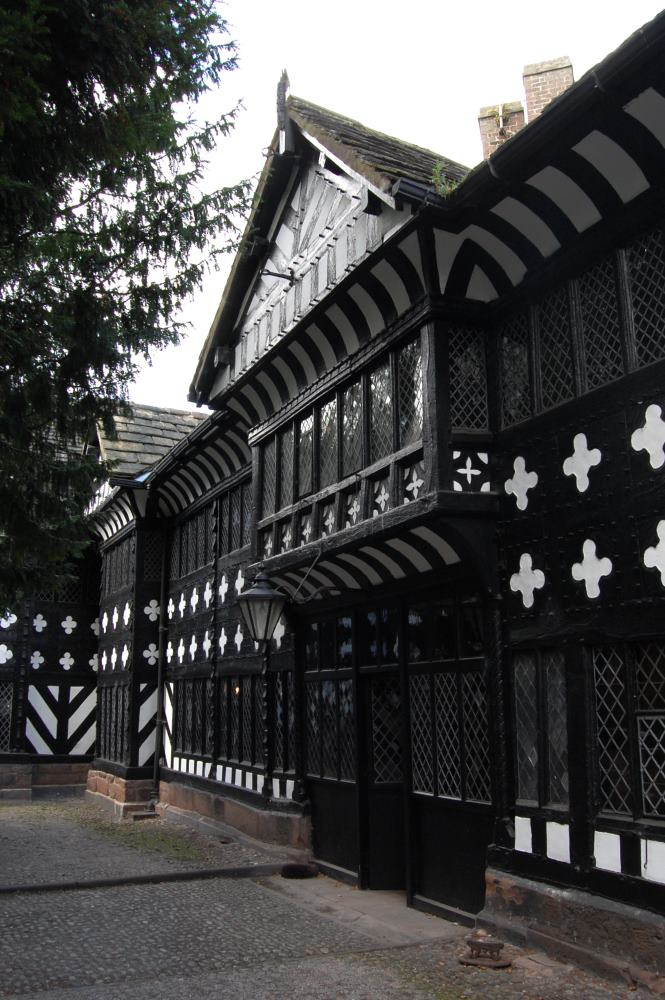 Phoograph of the courtyard at Speke Hall, Liverpool