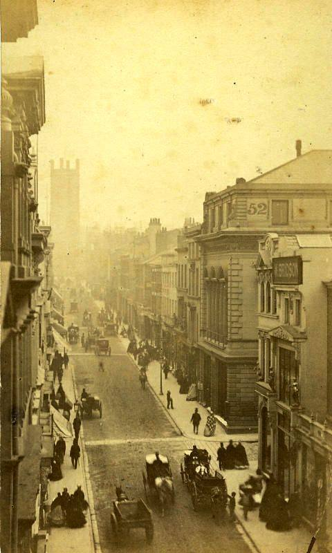 Victorian photo of Bold Street, Liverpool
