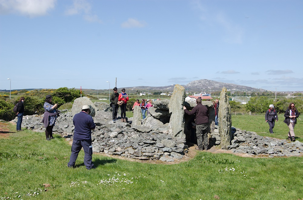 Photo of Trefignath burial chamber at Holyhead, Anglesey