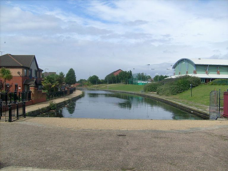 Photograph of the Liverpool end of the Leeds Liverpool Canal