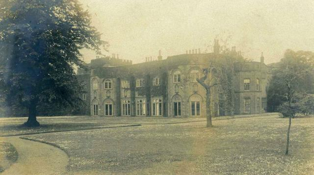 Hale Hall, in a Victorian photograph