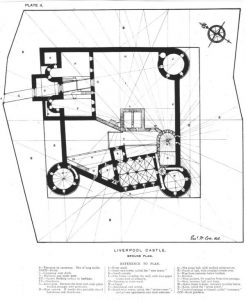 Early 20th century plan of Liverpool Castle