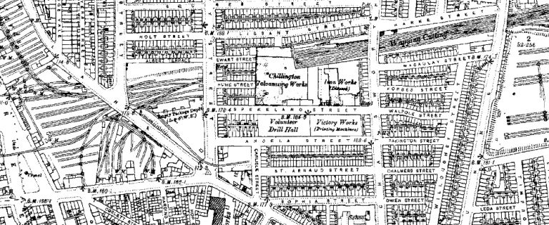 Extract from the 1890 Ordnance Survey Map of Edge Hill, Liverpool