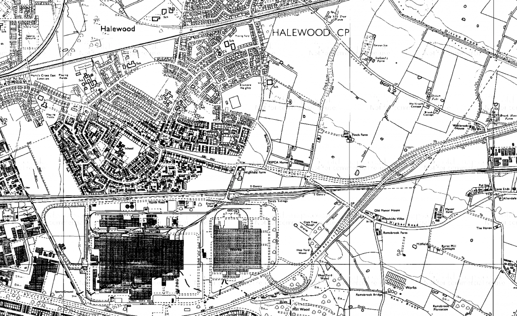 Map of Halewood, 1981