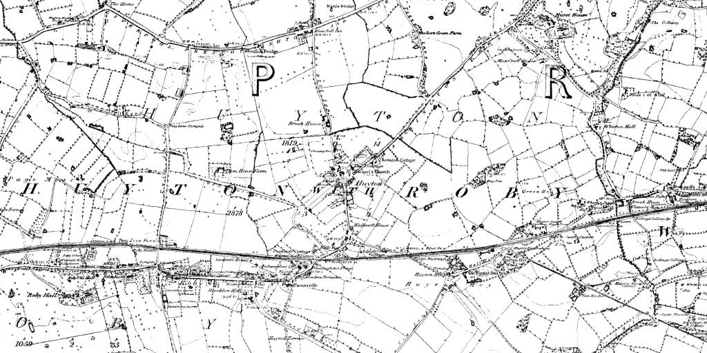 Huyton in 1850 (1:10,560)