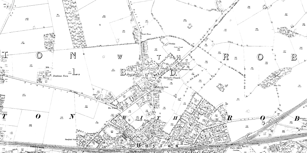 Huyton in 1890 (1:2500)