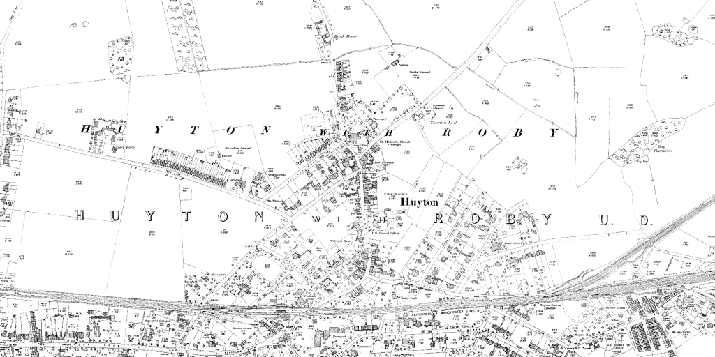 OS map of Huyton, 1927 (1:2500)