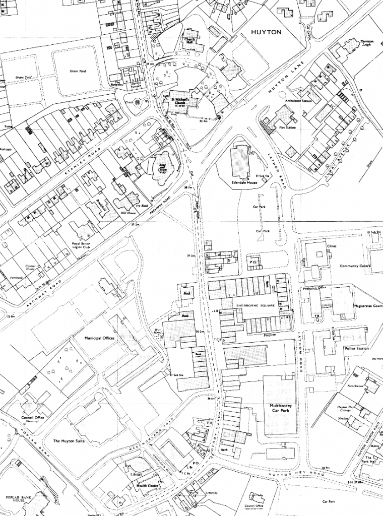 OS map of Huyton, 1977-7 (1:1250)