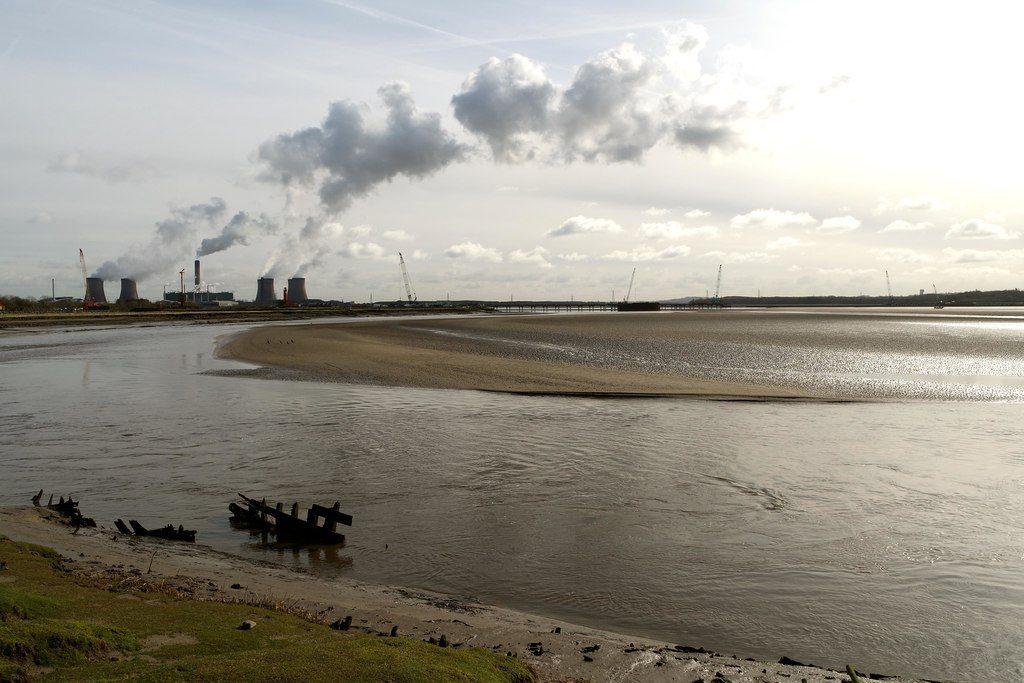 Photograph of Mersey Flat wreck, River Mersey near Widnes