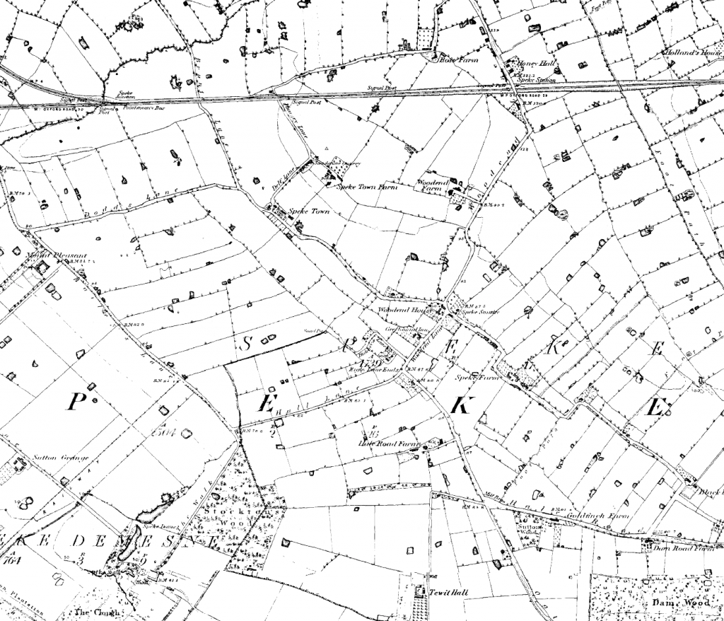 Map of Speke from 1849