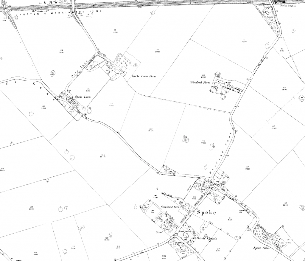 Detailed map of Speke from 1893