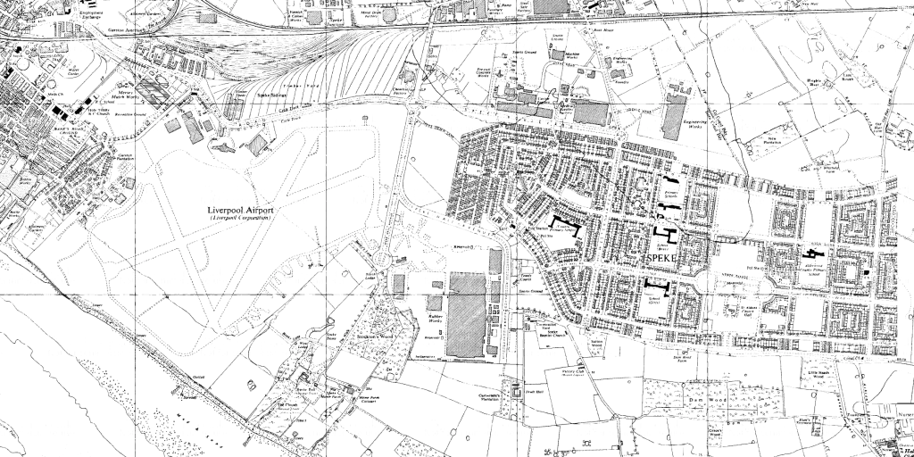 Map of Speke from 1956