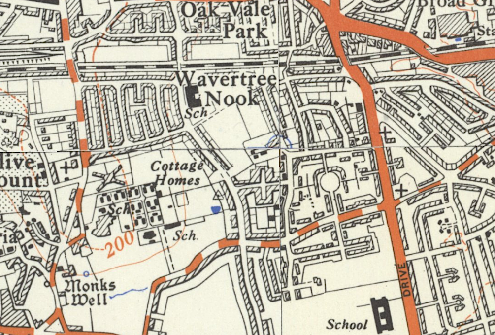 1930s map of Wavertree Garden Suburb