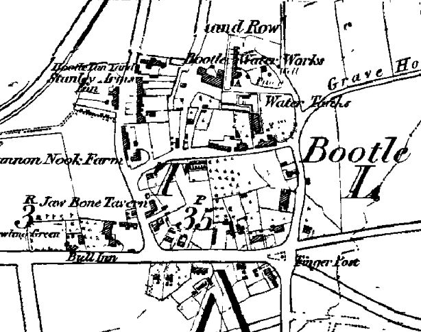 Bootle on the Ordnance Survey map of 1851