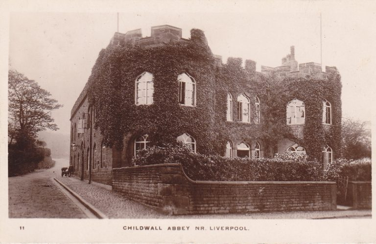 Black and white photograph of Childwall Abbey