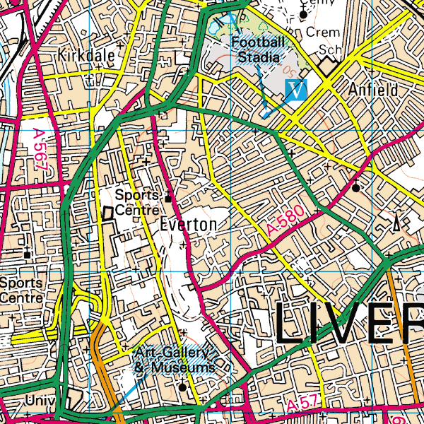 Map extract of Everton from 2000