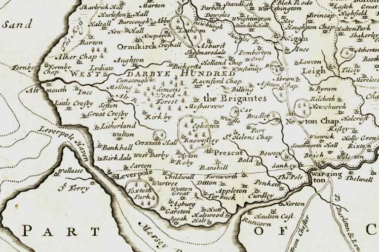 Extract from Morden's map of Lancashire, 1722