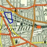 Extract from a 1950s Ordnance Survey map of Liverpool, with the location of Williamson's Tunnels outlined