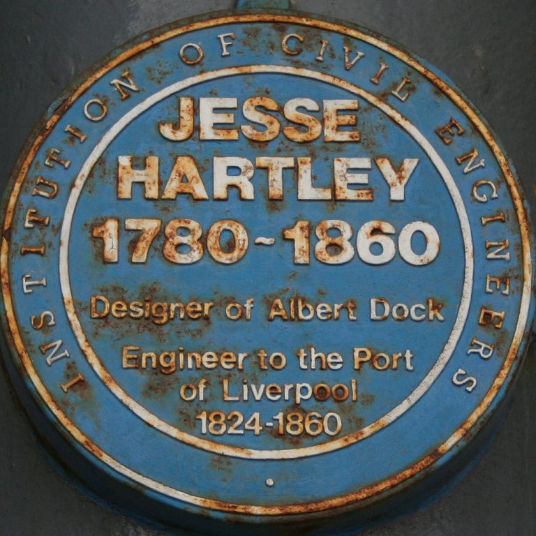 Photograph of the Blue Plaque dedicated to Jesse Hartley