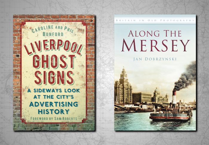 Covers of the books Ghost Signs of Liverpool and Along the Mersey