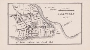 Sketch map of Liverpool as it was in 1572