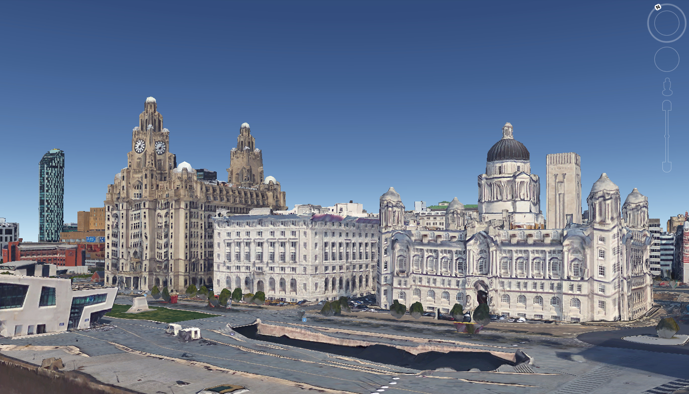 Here S 5 Views Of Google S 3d Liverpool You Might Not Have