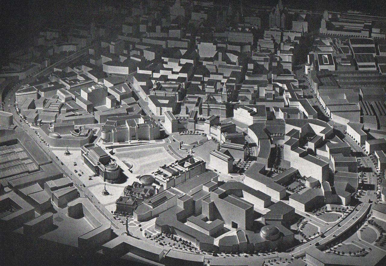 An architectural model of Liverpool produced in the middle of the 20th century