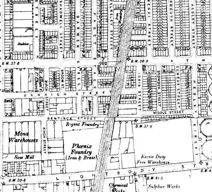 Old maps of liverpool historic liverpool also phil d has sent this map malvernweather Image collections