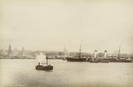 Photograph of Liverpool waterfront from 1887, from the Historic England Archive