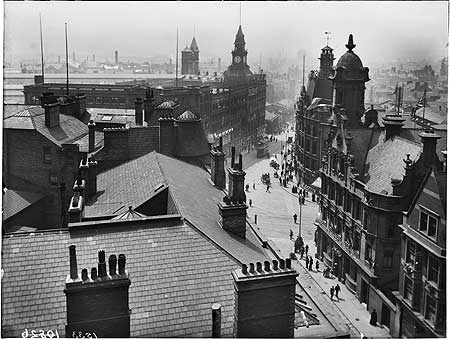 Archive photograph of view over Liverpool from Adelphi Hotel