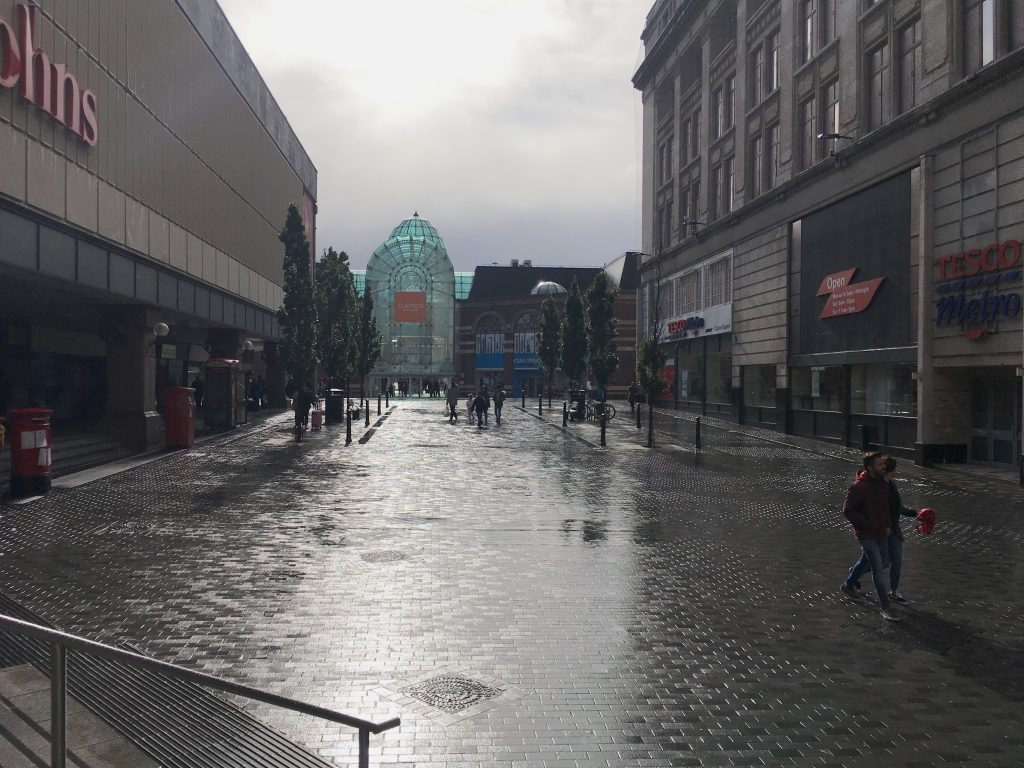 Photograph of Houghton Street, looking towards Clayton Square